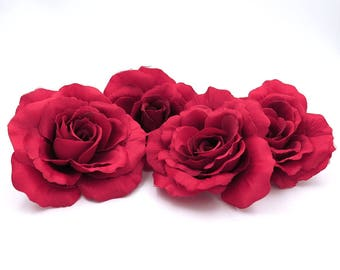 Red Roses. Flower Heads. Floral Supplies. Millinery Flowers