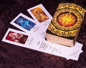 Tarot Bookmarks Set, featuring Major Arcana, Venetian Carnival Tarot, Digital Download