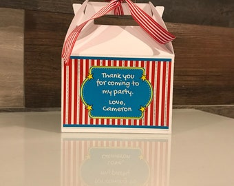 Customized party favor boxes