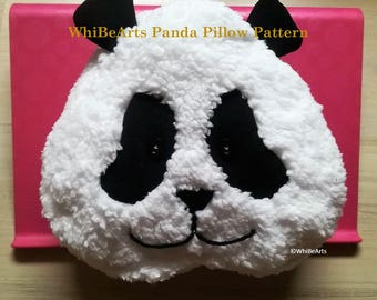 PDF Pattern: Panda Pillow (instructions included)