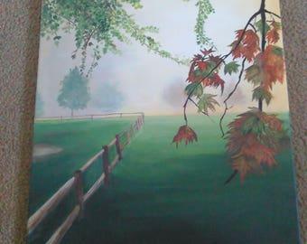 Canvas Fall morning