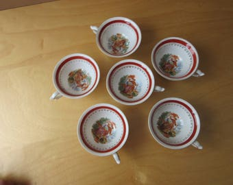 Vintage Occupied Japan Teacups or Demitasse Cups and Saucers - PAULUX
