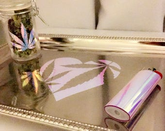 Holographic Rolling Tray Set (3 piece)