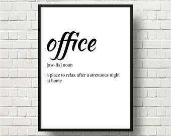 Office wall art Etsy
