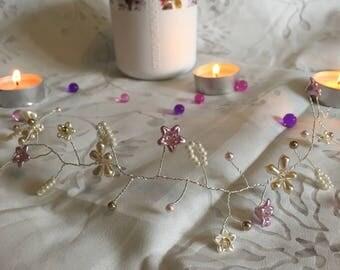 Handmade Silver Plated Hair vine