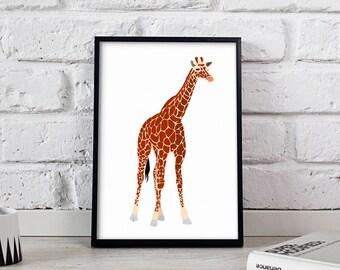 Giraffe Animal poster, Giraffe Animal wall art, Giraffe Animal wall decor, Giraffe Animal print