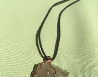 Hand Wrapped Smokey Quartz Crystal