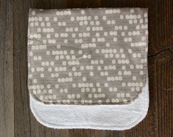 Natural Dotted Burp Cloth