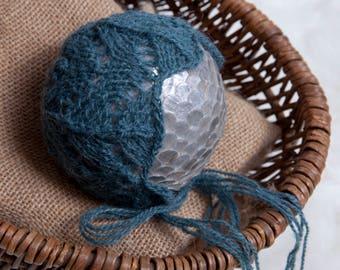 Grace Newborn Bonnet Pattern, Knit PDF Pattern, Newborn Hat Pattern, PHOTO shoot prop, Knit, Fine weight 2, PDF, Newborn hat