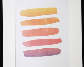 Paint Strokes Poster