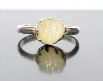 Yellow Sapphire Ring in Sterling Silver