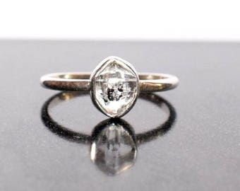 Herkimer Diamond Ring in Sterling Silver