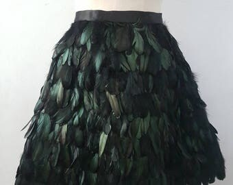 Frey rooster feathers skirt