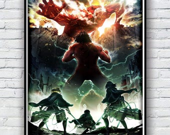 Attack of titan Poster, shingeki no kyojin Poster Print, Available in 4 sizes
