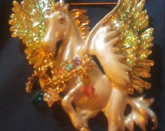 Kirks Folly Retired Pegasus Brooch