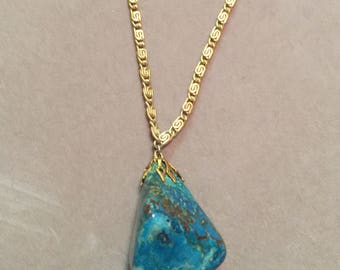 Vintage Germany Necklace with Large Turquiose Stone