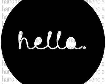 Circle Hello Design