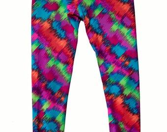 Girl's Yoga Pant / Legging - Artsy Print