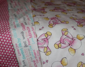 Set of 3 Full Size Burp Cloths- Pink Collection