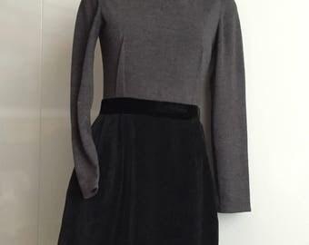 LANVIN Paris little black dress size S