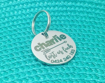 Lost As Fuck, Personalised Dog Tag, Personalized Dog Tag, Dog Tag, Pet ID Tag, Custom Dog Tag, Custom Pet Tag, Dog Name Tag, Labrador Tag