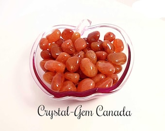 3 (three) beautiful Carnelian, Pocket stone. - Gemstone for confidence, courage, and passion. Gemstone infused w Reiki