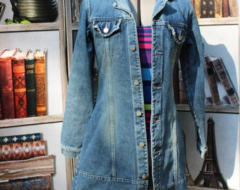 Vintage 90s Jean Jacket, Fitted