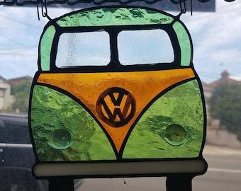 Stained Glass VW Kombi Van