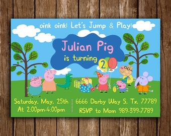 Peppa Pig Invitation, Peppa Pig Birthday Invitation, Peppa Pig Birthday Party, Peppa Pig invite, Peppa Pig Birthday, Peppa Pig Printable