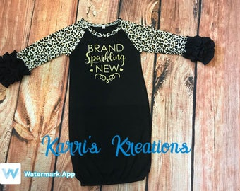 Infant Ruffle Gown, New baby coming home outfit
