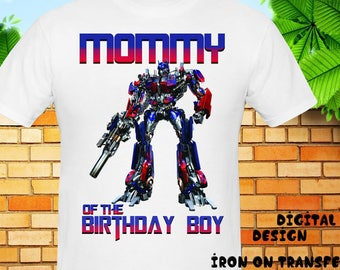 Mommy, Transformers Iron On Transfer, Transformers Birthday Shirt, Transformers Instant Download, Digital File Only