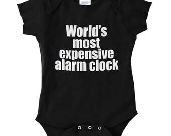 World's Most Expensive Alarm Clock Infant Baby Rib Cotton Bodysuit