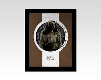 Game of Thrones inspired Jaqen H'Ghar Valar Morghulis print