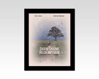 The Shawshank Redemption inspired movie poster tree print