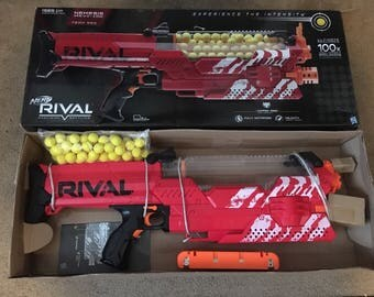 Modified Nerf Rival Nemesis MXVII-10K Lipo Mod Team red