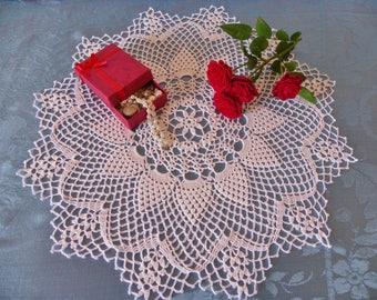 doily, white crochet Centerpiece