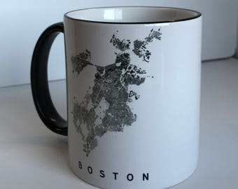 Boston GIS Black & White Mug
