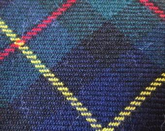 Tartan tie, Rooster, wool tie, plaid, red and green, Christmas tie, Holiday tie,winter tie, retro, vintage, Scottish, necktie, neck tie  T14