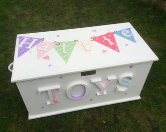 Beautiful Hand Painted Toy Box