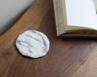 100% Wool Marble Felt Coaster