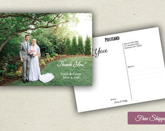 Photographic Thank You Postcards - Double-Sided