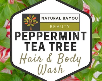 Peppermint Tea Tree Hair & Body Wash (Sulfate Free) (Pre-Order)