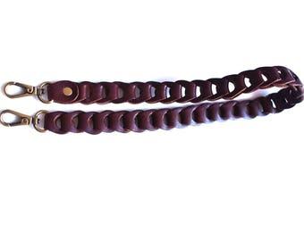 N250 wide 2 cm Brown Color Leather Bag Shoulder Belt.