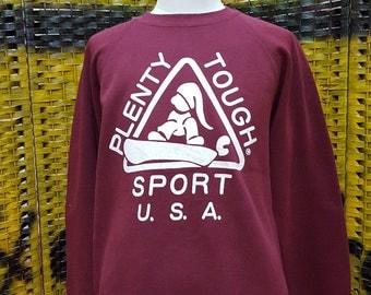 Vintage PLENTY TOUGH / big logo / skate hip hop streetwear / very nice sweatshirt (X115)