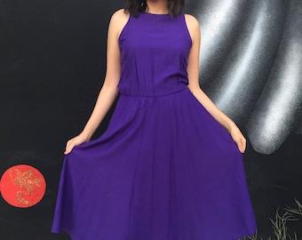Vintage 1980's Purple dress