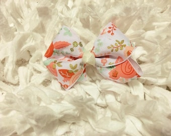 Floral Print 3-inch Bow