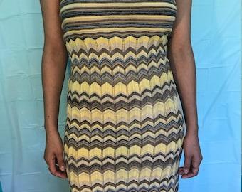 Chevron Midi Tube Dress