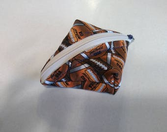 Super SweetPea Pouch - Small Zippered Pouch - Denver Broncos Football