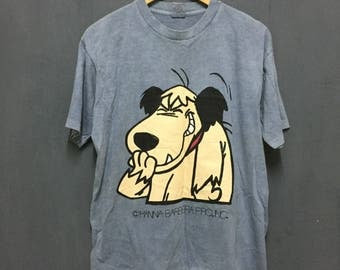 Rare!! Vintage!! Hana barbera Cartoon big printed smilling!! Streetwear!! Swagger!! 90's vintage item!! DressArt!!