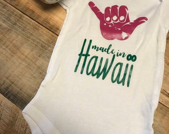 Made in Hawaii Baby Onesie
